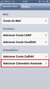 Calendario Assinado - iPhone