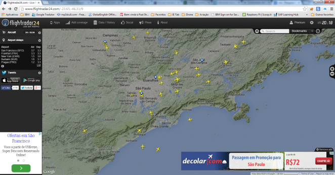 Tela Web - Flight Radar